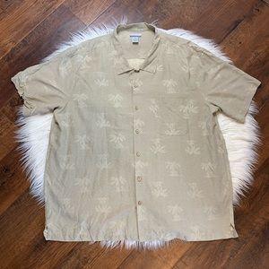 Men's Breakwater Hawaiian shirt sz 2XL silk blend